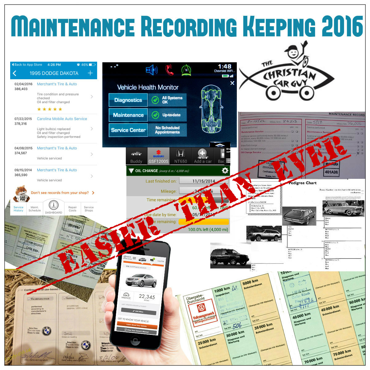 Car Maintenance Recording Keeping