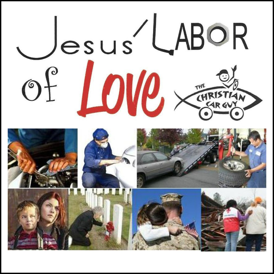 Jesus Labor of Love Banner