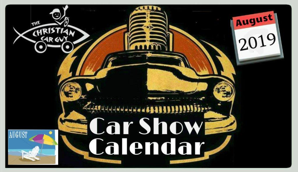 Car Show Calendar August 2019