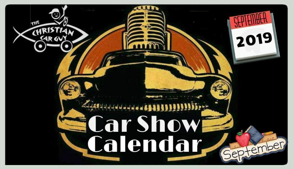 Car Show Calendar September 2019