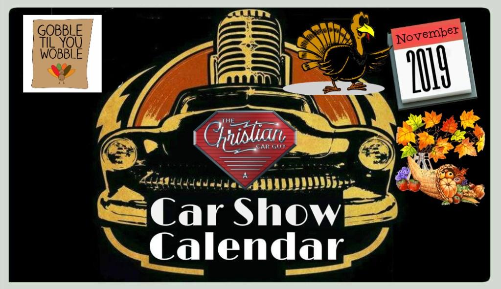 Car Show Calendar November 2019