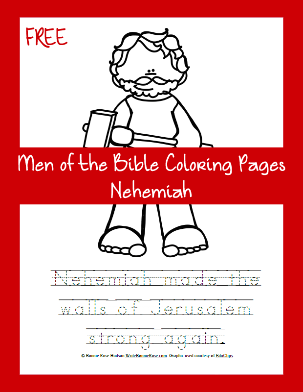 Free Men Of The Bible Coloring Book