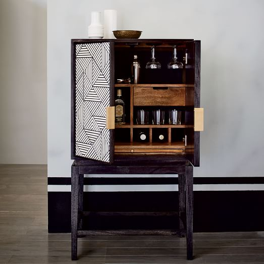 West Elm Bone Inlaid Cabinet
