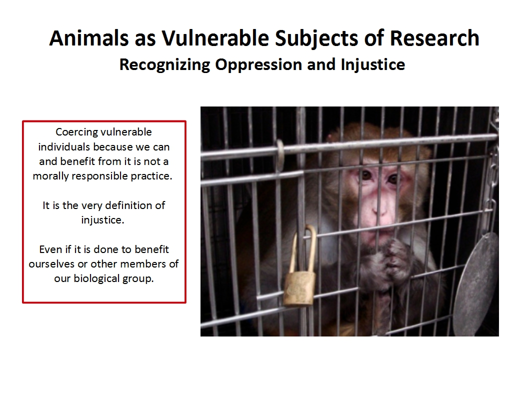 Presentation Animal Experimentation Bailey 2015_Animals as vulnerable subjects of research