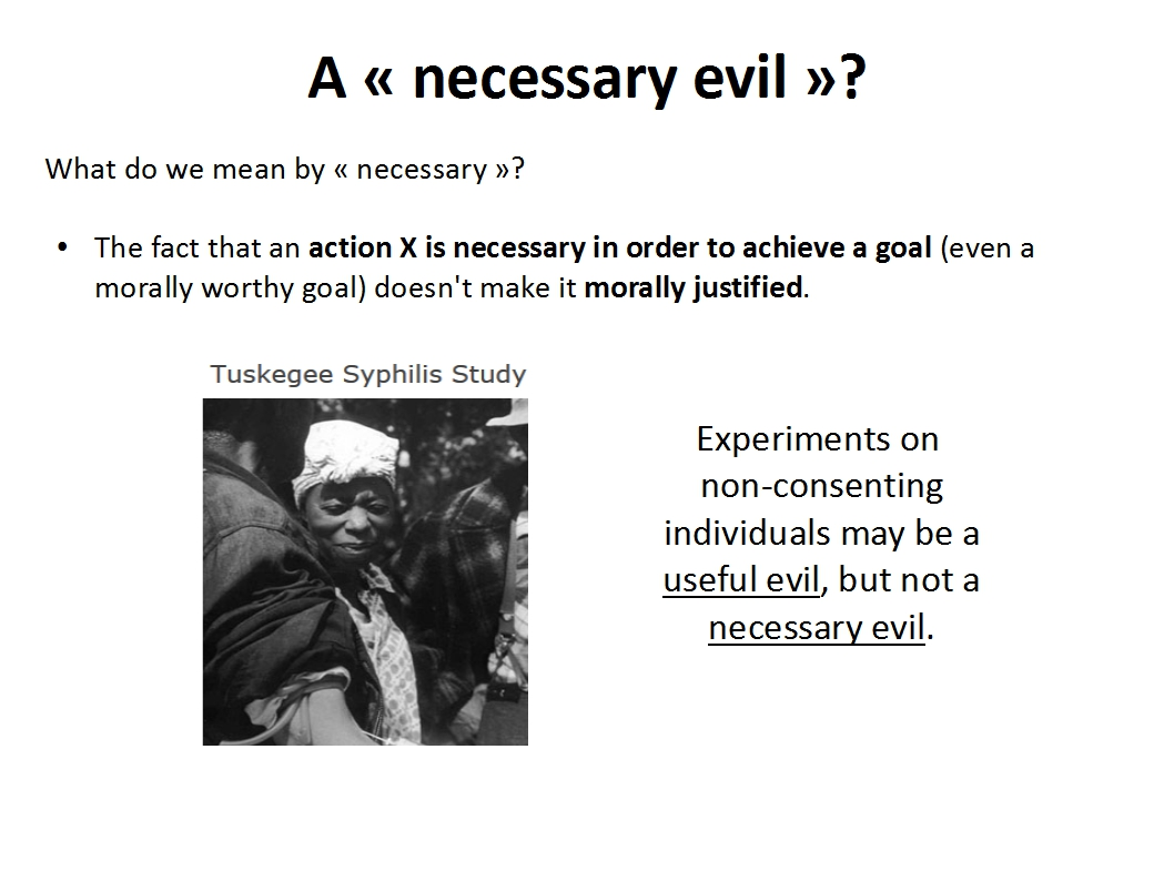 Presentation Animal Experimentation Bailey 2015_necessary evil