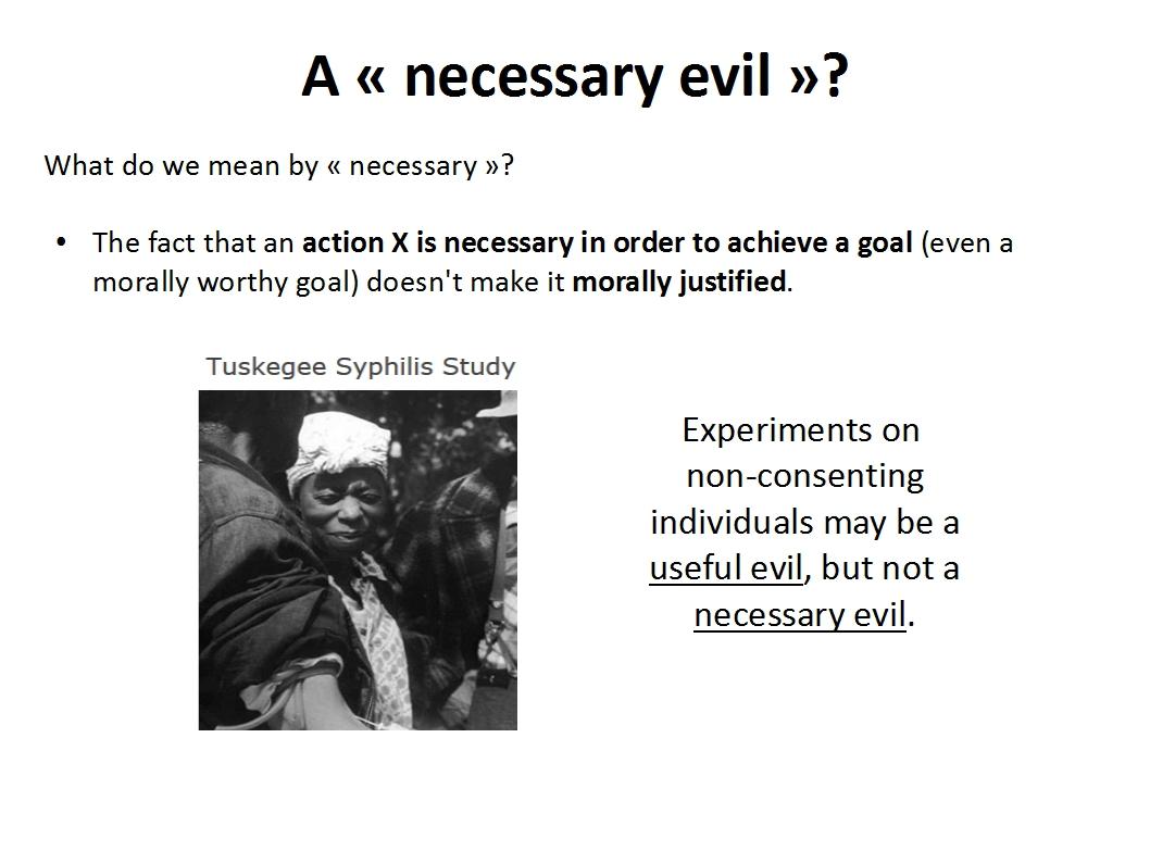 Presentation Animal Experimentation Bailey 2015_necessary evil