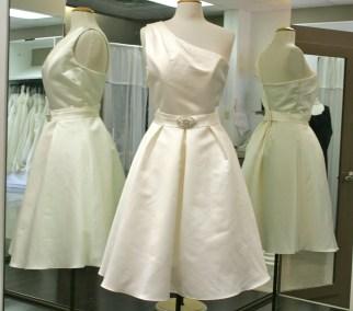 One shoulder dress short christiane bridal