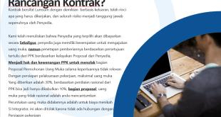 Menjelaskan Rancangan Kontrak Lalu Jenis Kontrak Dan Kewenangan Penetapan Uang Muka Yang Diberikan Oleh Ppk