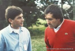1984 mit Seve Ballesteros (spanische Golflegende)