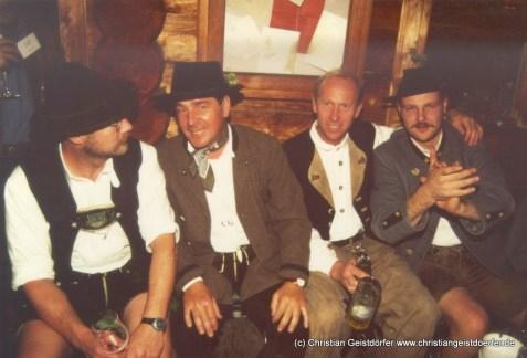 1997 Abendveranstaltung auf der Schindelberger Alm