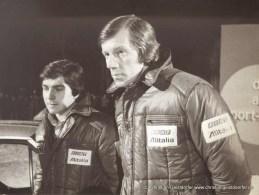 01/1978 Besuch des ZDF-Sportstudio Garmisch Partenkirchen nach dem 4. Platz bei der Rallye Monte Carlo