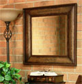 Leather Mirror with 2 Corinthians 3:18