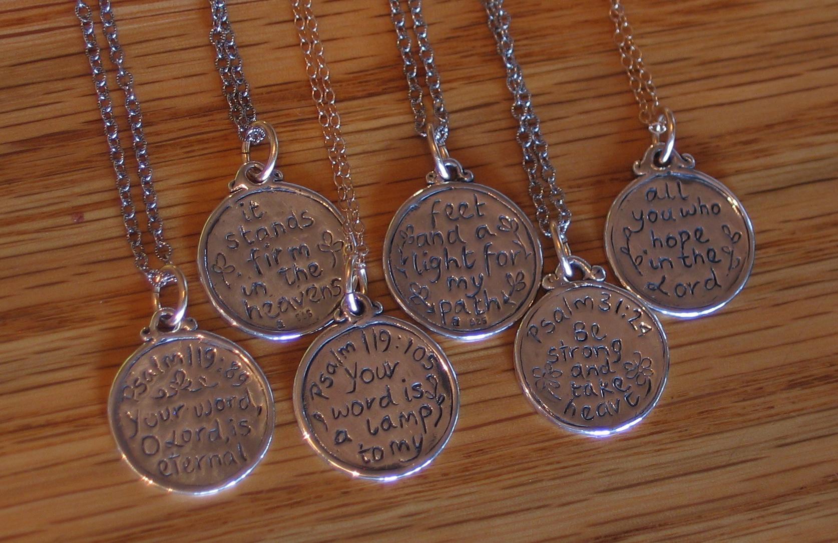 Small Scripture Medallions