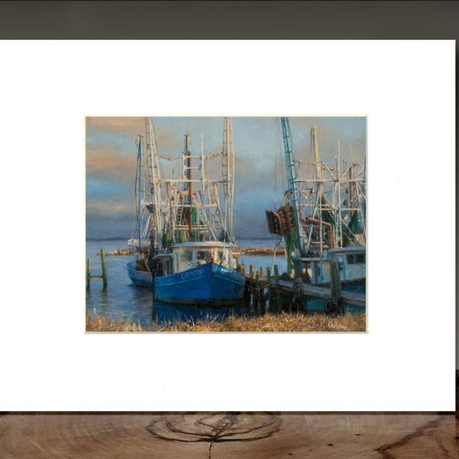 "Giclée of Christian's painting entitled ""Lauren's Shrimp Boat"""