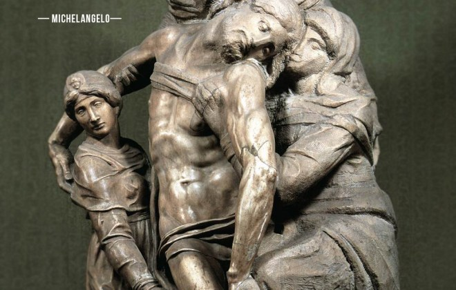 Michelangelo Quote: Explosive Visual Noise