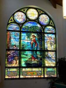 Ira Sankey Stained Glass Window