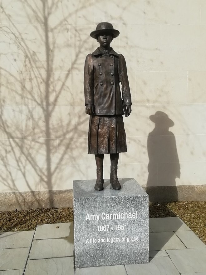 810px Amy Carmichael statue Bangor 768x1024