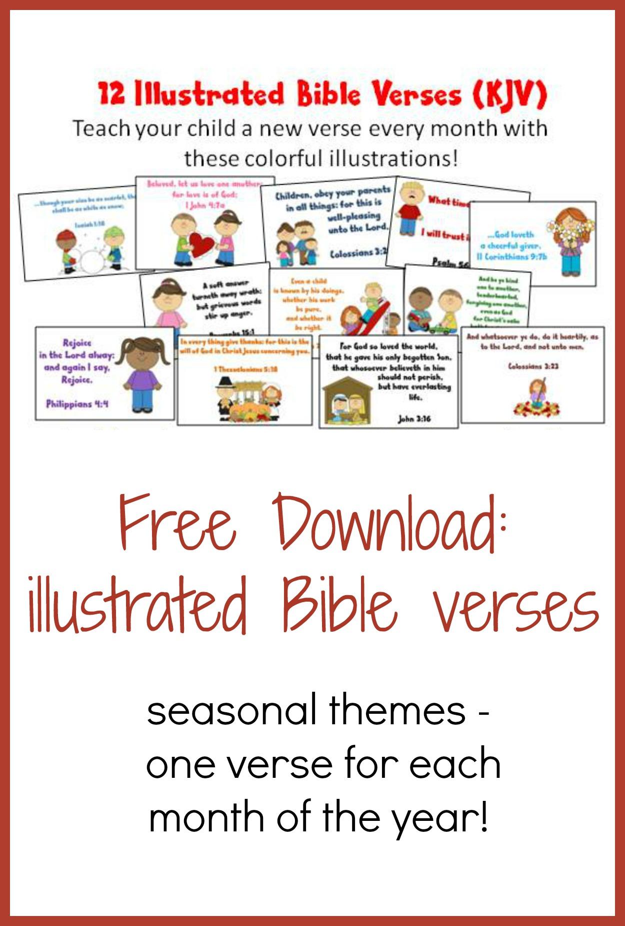 Illustrated Bible Verses For Kids Kjv