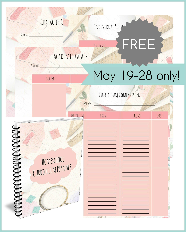 Limited Time Freebie Homeschool Curriculum Planner