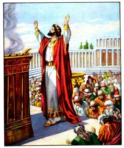 Image result for Solomon's Prayer at the Dedication of the Temple.