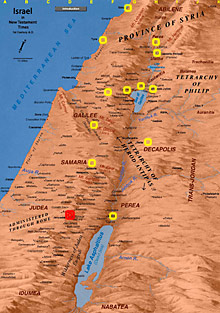 Map of Jesus Ministry