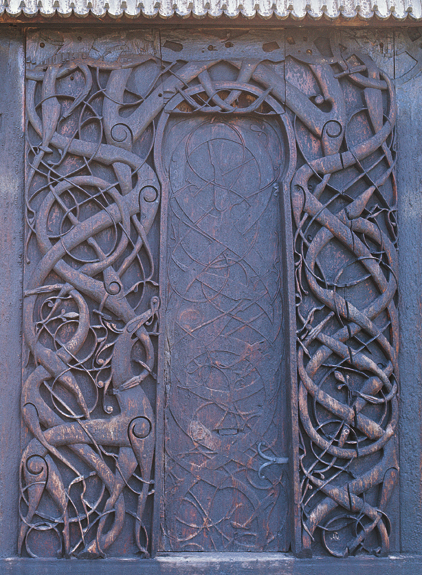 Detail of the portal at Urnes church