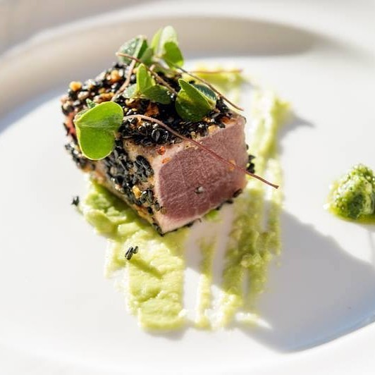 Whats For Dinner! Seared Toro edamame pure micro greens whatsfordinnerhellip