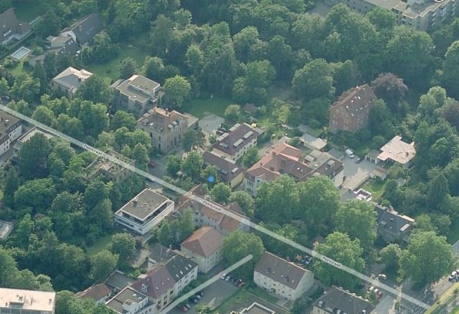 Unsere Wohnung in Braunschweig (untern rechts)