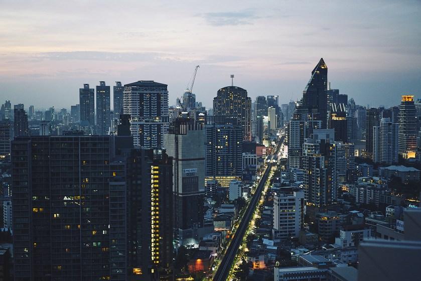 Aussicht von der Octave Rooftopbar Bangkok