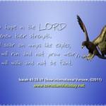 Eagles  Isaiah 40 v 28 to 31