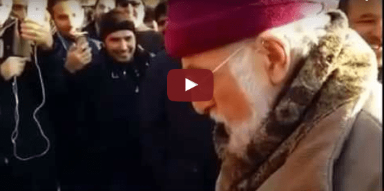 Shocking Muslims Men Mock Christian Pensioner in Hyde Park, London
