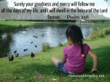Surely your goodness and love will follow me