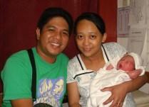 Hazel Villaruz and Paul Claro w/ son Patrick born 5.27.14 at 4 AM