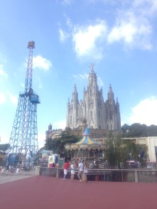 Cathedral with the amusement park surrounding it