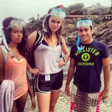 The snorkeling trio.