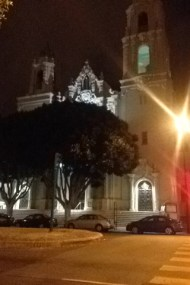 Mission Delores at night