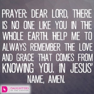 Prayeer-dear-lord-there-is-no-one-like-you-in-the-whole-earth