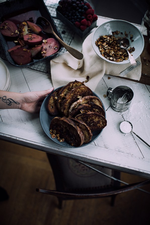 French toast with poached pears | Recipe, Photography & Styling by Christiannkoepke.com-8