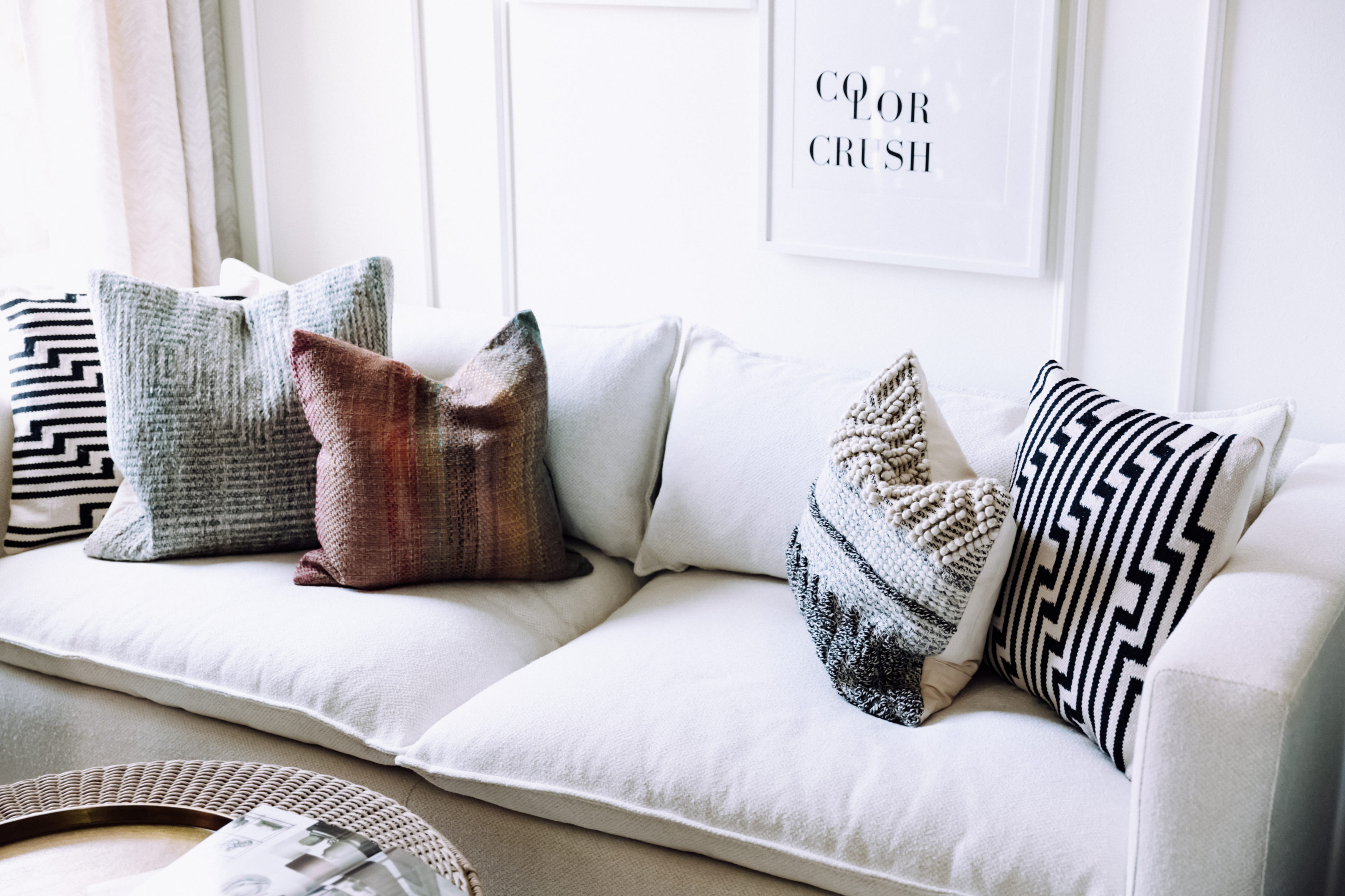 color crush living room makeover with