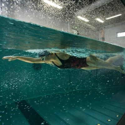 Strömungskanal Schwimmen