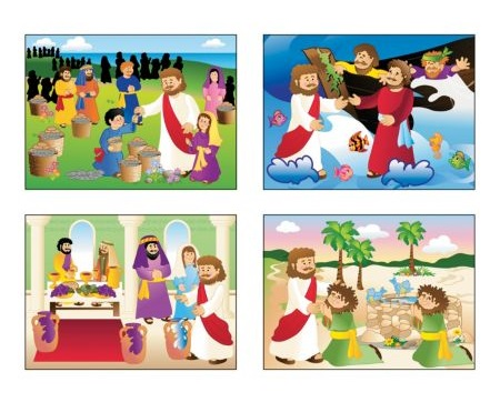 Miracles of Christ Christian Stickers scenes