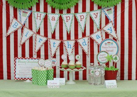 Digital Happy Birthday Jesus party decorating kit