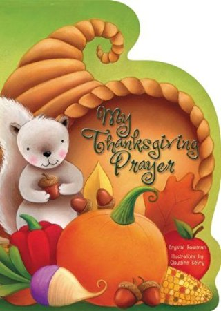 Religious Thanksgiving prayer board book