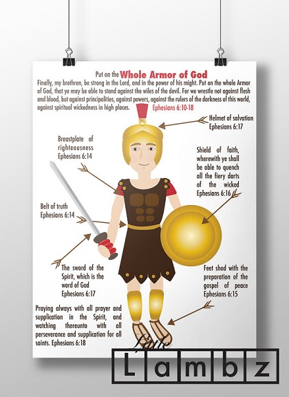 Full Armor of God printable art