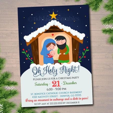 Digital Church Christmas program party invitation