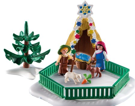 Playmobil religious Christmas play set