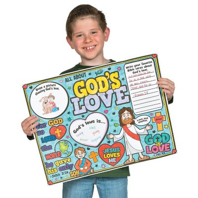God is love color a Valentine posters
