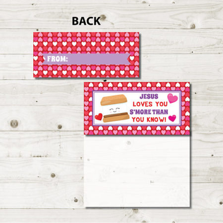 Printable Jesus Loves You Valentine treat bag tops