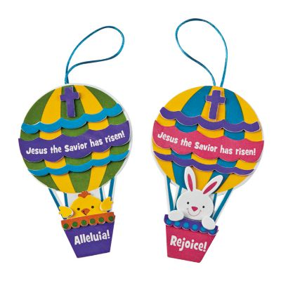 Christian Jesus lives Hot air balloon church crafts