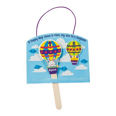 Easter Jesus Lives Hot Air balloon bunny crafts